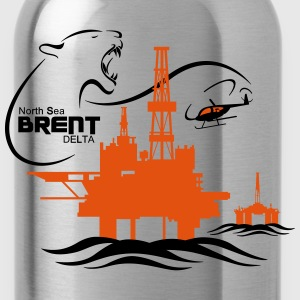 Brent Delta Oil Rig Platform North Sea Aberdeen - Water Bottle