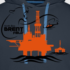 Brent Field Oil Rig Platform North Sea Aberdeen - Men's Premium Hoodie