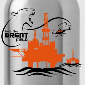 Brent Field Oil Rig Platform North Sea Aberdeen - Water Bottle
