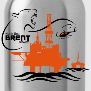 Brent Alpha Oil Rig Platform North Sea Aberdeen - Water Bottle