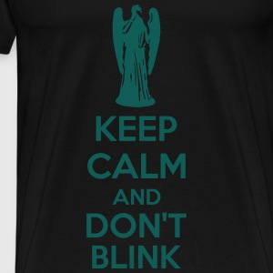 Keep Calm And Don't Blink Sweatshirts - Herre premium T-shirt