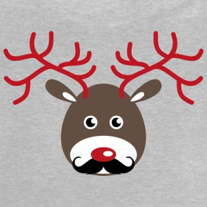 Rudolf reindeer with antlers and a beard Long Sleeve Shirts - Baby T-Shirt