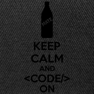 Keep Calm And Code On Sweat-shirts - Casquette snapback