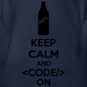 Keep Calm And Code On Magliette - Body ecologico per neonato a manica corta