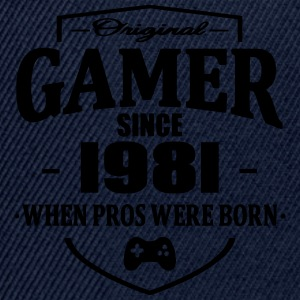 Gamer Since 1981 Tee shirts - Casquette snapback