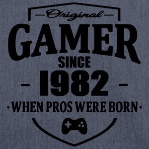 Gamer Since 1982 T-shirts - Schoudertas van gerecycled materiaal