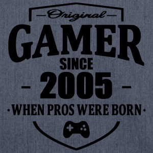 Gamer Since 2005 T-Shirts - Schultertasche aus Recycling-Material