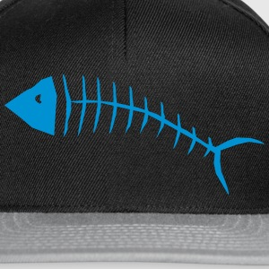 Fish bone, Glow in the dark, black light Camisetas - Gorra Snapback