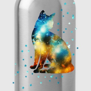 Space Pussy on the Milky Way, Galaxy, Cat, Star Manches longues - Gourde