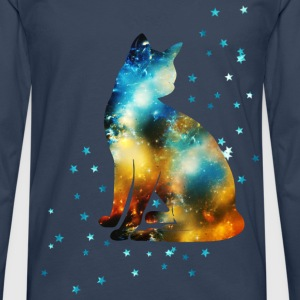 Space Pussy on the Milky Way, Galaxy, Cat, Star Hoodies & Sweatshirts - Men's Premium Longsleeve Shirt