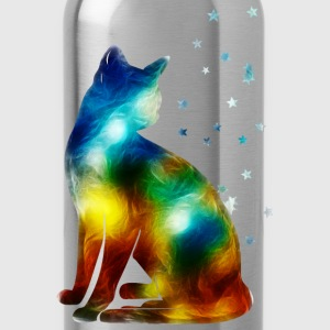 Space Cat on the Milky Way, Galaxy, Pussy, Star T-Shirts - Water Bottle
