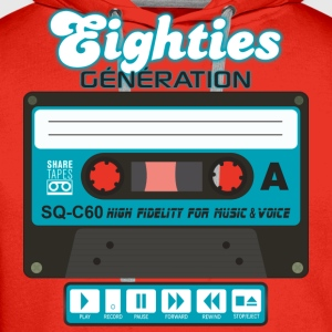 cassette audio eighties génération Tee shirts - Sweat-shirt à capuche Premium pour hommes