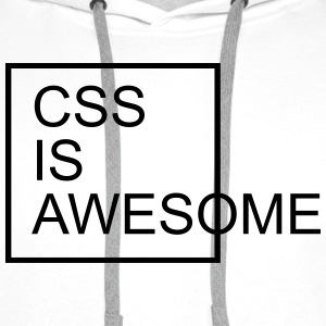 CSS Is Awesome  T-shirts - Herre Premium hættetrøje