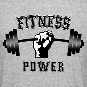 fitness power 01 Sweat-shirts - Tee shirt près du corps Homme