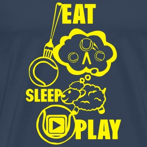 eat sleep play tennis fourchette mouton Manches longues - T-shirt Premium Homme
