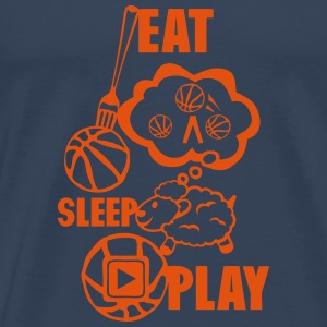 eat sleep play basketball fourchette Débardeurs - T-shirt Premium Homme