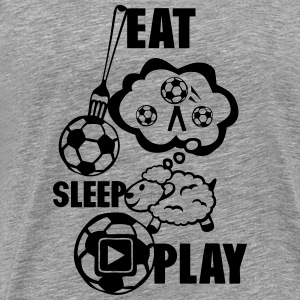 eat sleep play foot Bereich Schafe Langarmshirts - Männer Premium T-Shirt