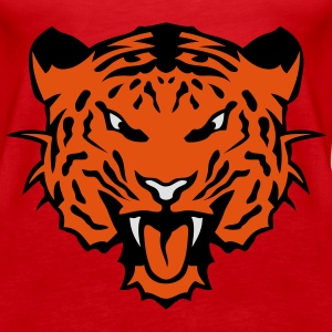 Tigerkopf Tier 6102_z Tops - Frauen Premium Tank Top