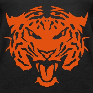 Tigerkopf Tier 16104_z Tops - Frauen Premium Tank Top