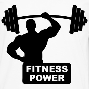 fitness power 02 Tee shirts - T-shirt manches longues Premium Homme
