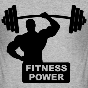 fitness power 02 Sweat-shirts - Tee shirt près du corps Homme