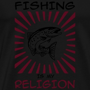 fishing is my religion Langarmshirts - Männer Premium T-Shirt