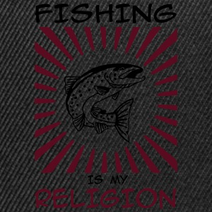 fishing is my religion Langarmshirts - Snapback Cap