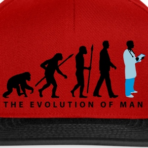 evolution_of_man_doctor_082014_a_3c T-Shirts - Snapback Cap