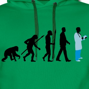 evolution_of_man_doctor_082014_b_3c T-Shirts - Männer Premium Hoodie