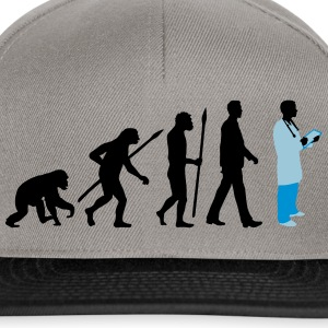 evolution_of_man_doctor_082014_b_3c T-Shirts - Snapback Cap