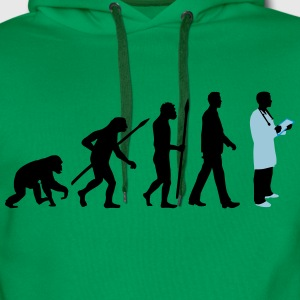 evolution_of_man_doctor_082014_c_3c T-Shirts - Männer Premium Hoodie