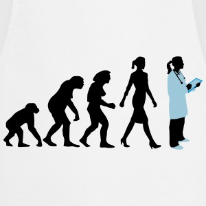 evolution_of_woman_female_doctor_112014_ T-Shirts - Kochschürze