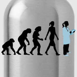 evolution_of_woman_female_doctor_112014_ T-Shirts - Trinkflasche
