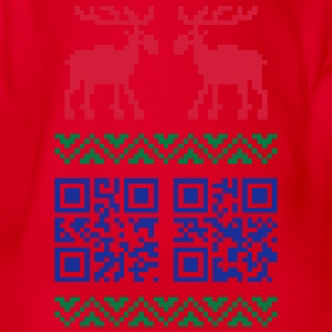 Ugly Christmas Sweater QR Code Happy New Year! Shi - Organic Short-sleeved Baby Bodysuit