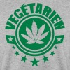 vegetarien feuille cannabis logo Sweat-shirts - Sweat-shirt Homme