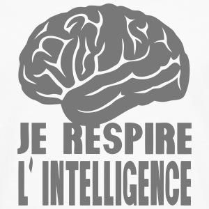 je respire l intelligence expression Tabliers - T-shirt manches longues Premium Homme