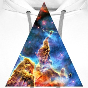 Triangle Mystic Mountain, Carina Nebula, Space, Galaxy, T-skjorter - Premium hettegenser for menn