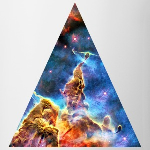 Triangle Mystic Mountain, Carina Nebula, Space, Galaxy, Koszulki - Kubek
