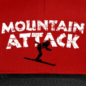 MOUNTAIN ATTACK Winter Sports Ski Design (B&W) T-shirts - Snapback Cap