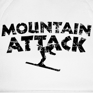 MOUNTAIN ATTACK Winter Sports Ski Design (Black) T-shirts - Baseballkasket