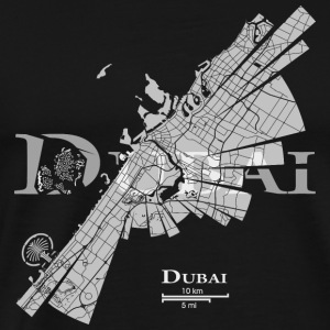 Dubai Map Tank Tops - Men's Premium T-Shirt