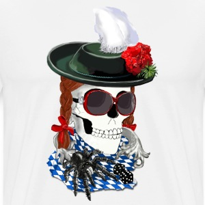 Munich-skull girl Tabliers - T-shirt Premium Homme