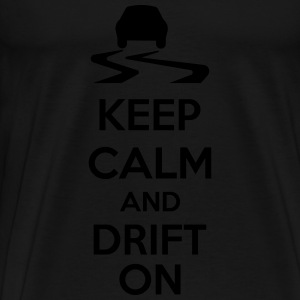 Keep Calm And Drift On Manches longues - T-shirt Premium Homme