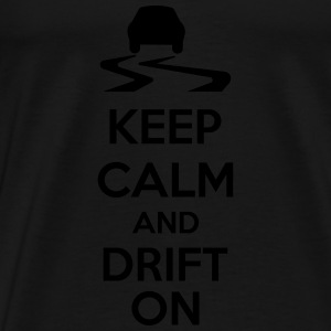 Keep Calm And Drift On Tank topy - Koszulka męska Premium