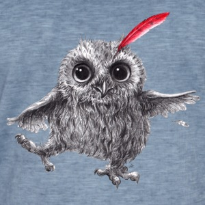 Chief Red - Happy Owl - T-shirt vintage Homme