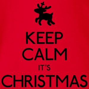 keep calm christmas hålla lugn jul T-shirts - Ekologisk kortärmad babybody