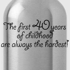 The first 40 years of childhood. Birthday Party - Trinkflasche