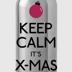 keep calm x-mas blijf kalm x-mas T-shirts - Drinkfles