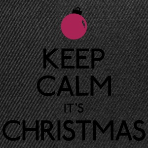 keep calm christmas hålla lugn jul T-shirts - Snapbackkeps