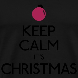 keep calm christmas holde rolig jul Sweatshirts - Herre premium T-shirt